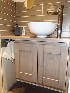 Petit Meuble Vasque : petit meuble sous vasque cr ation de meubles menuiserie ~ Edinachiropracticcenter.com Idées de Décoration
