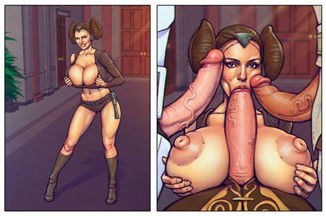 Large Boobs Princess Cuckolds Her star wars porn