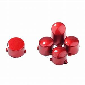 New Polished Red Abxy   Guide Buttons Parts Set For Xbox