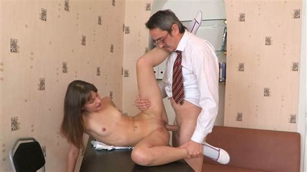 #Sweet #Teenage #Brunette #With #Small #Tits #Fucks #Her #Aged