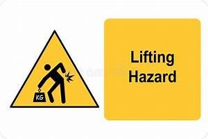 Safety Sign  Safety Hazards  Manual Handling Stock