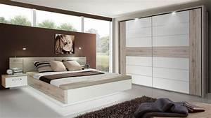 Schlafzimmer 1 RONDINO Komplettset In Sandeiche Wei
