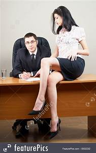 Employee Work Plans Business People Boss And Him Stock Picture