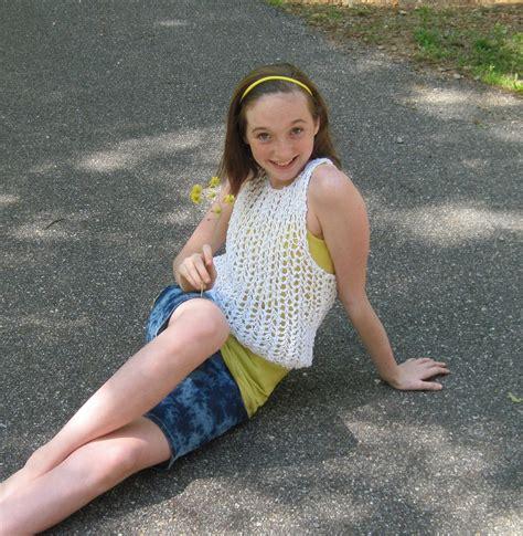 string vest knitting pattern tween  teen   laurelarts
