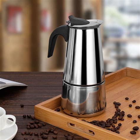 Espresso Kafijas Vārāmā Kanna 300ml, Sudraba| Moka Pot ...