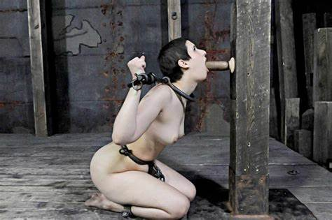 Submission Lesbian Brunettes Fishnet Bondage Drunk Submissive In Iron