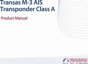 Transas Marine 1806153 Class A Ais Transponder User Manual