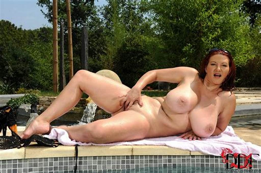 #Lovely #Vanessa #Showing #Off #Her #Huge #Boobs #By #The #Pool