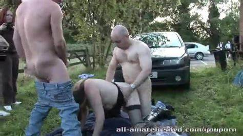 Teenage Stepdaddy Dogging  Home Outdoor With Strangers
