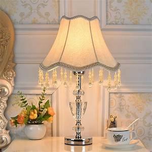 Europ, Crystal, Table, Lamp, For, Bedroom, Living, Room, Wedding, Decor, Abajur, De, Mesa, K9, Crystal, With