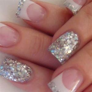 37 nail designs with silver glitter nailspix