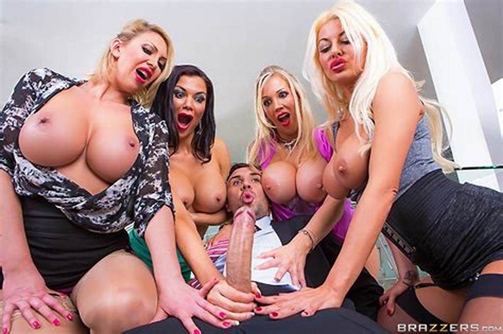 #Office #Reverse #Gangbang #Pictures #With #Busty #Women