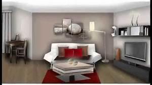Peinture Moderne Salon : deco salon moderne 2015 decoration maison moderne youtube ~ Teatrodelosmanantiales.com Idées de Décoration