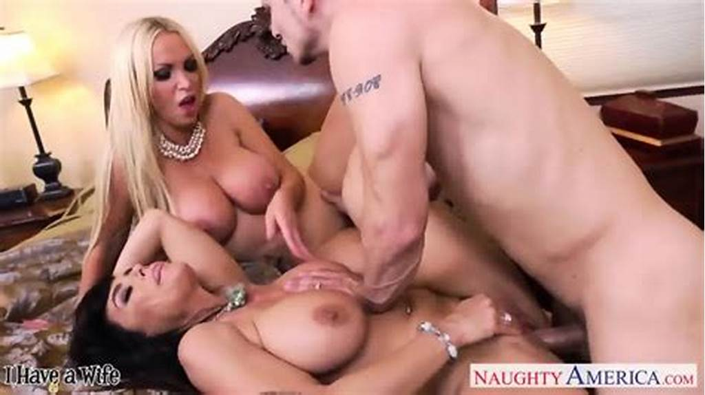 #Hot #Wives #Lisa #Ann #And #Nikki #Benz #Sharing #A #Big #Dick