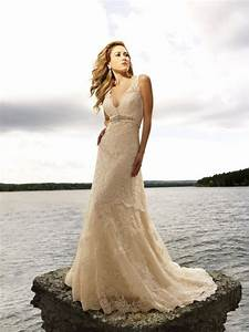 Beach and lace wedding dresses bavarian wedding for Wedding dresses beach collection