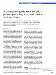 Pdf  A Pharmacist U0026 39 S Guide To Care Of Adult Patients