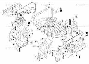 Arctic Cat Side By Side 2006 Oem Parts Diagram For Rear