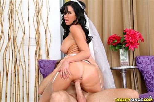 Veronica Avluv Foursome Party #Brunette #Bride #Drags #Member #Of #Groom'S #Party #Inside #And