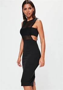 crepe sleeveless cut out midi dress black missguided With robe sexy nouvel an