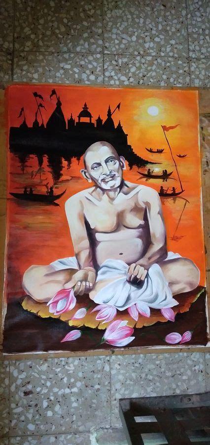 That was the first appearance of gajanan maharaj in tiny shegaon town. Buy Gajanan Maharaj Painting at Lowest Price by Shardha Jodh