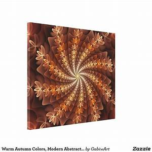 Warm, Colors, Modern, Abstract, Fractal, Art, Pattern, Canvas
