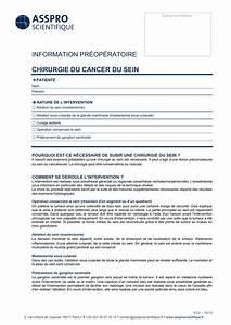 Information Pr U00e9op U00e9ratoire Chirurgie Du Cancer Du Sein