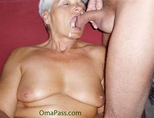 Oma schluckt samen
