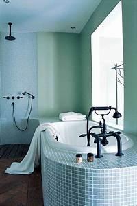 carrelage salle de bain vert eau With carrelage gris couleur mur 5 salle de bains verte 125 idees pour vous convaincre