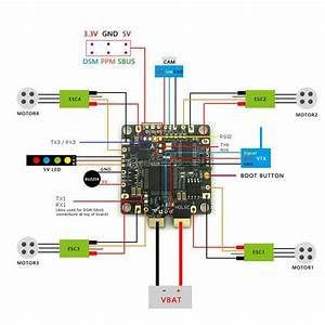 Betaflight F4 Wiring Diagram