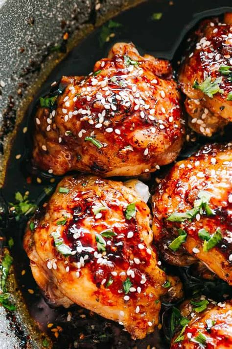 These instant pot bbq chicken drumsticks are an easy and delicious dinner for the family but also work great as an appetizer! Instant Pot Sticky Chicken Thighs - Tender, deliciously ...