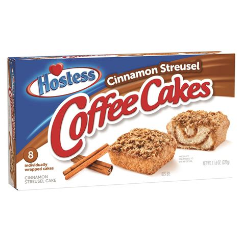 2,000 calories a day is used for general nutrition advice. Hostess Cinnamon Streusel Coffee Cake ca. 328g (11.5oz)