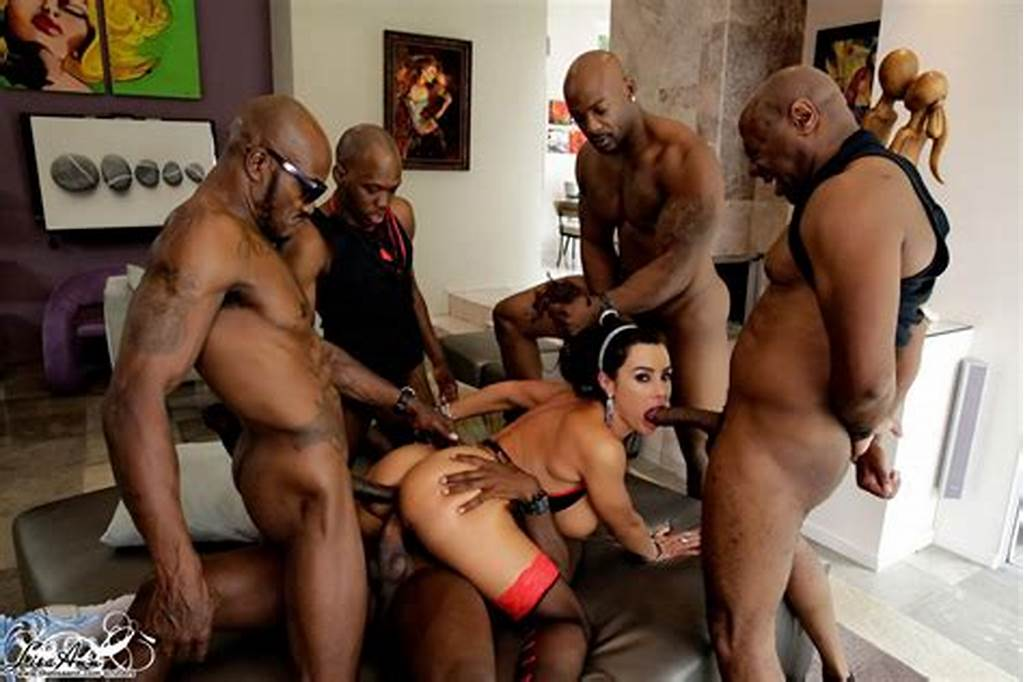 #Lisa #Ann #Gangbanged #By #Five #Black #Cocks