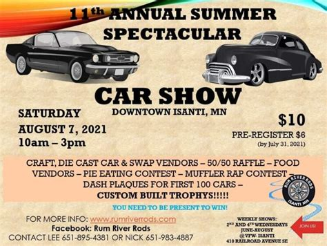 Thank you for your interest in cars & coffee contact us for more information: Minnesota Car Shows - CarShowNationals.com