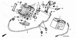 Honda Motorcycle 2010 Oem Parts Diagram For Battery