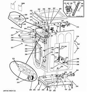 Ge Gfws1505d0ms Washer Parts