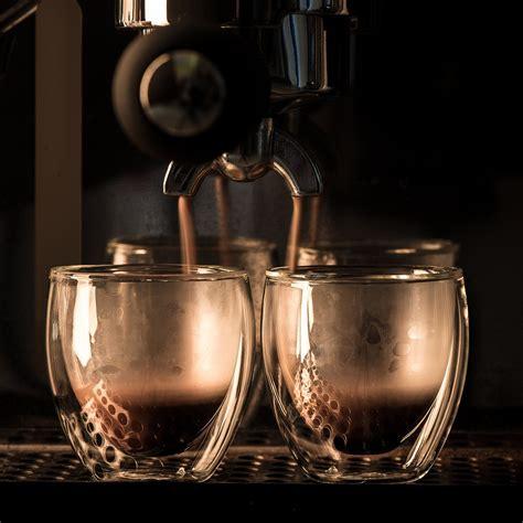 Doppio adalah double shot espresso, umumnya diekstraksi dengan menggunakan double coffee filter dalam portafilter. Espresso Shot Glass Cups For All Coffee Lovers 80ml 2.7 oz ...