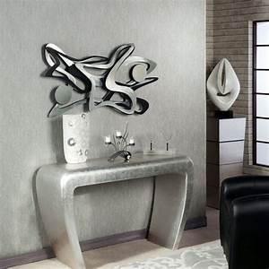 Decoration Murale Fer : decoration murale design en metal noir ~ Melissatoandfro.com Idées de Décoration