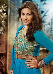Parineeti Chopra in anarkali salwar kameez cyan dress hd ...