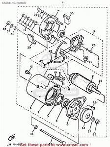 Yamaha G9-ah Golf Buggy 1992 Starting Motor