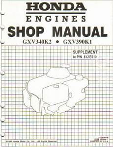 Honda Gxv390 Engine Shop Manual