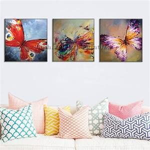 Peinture à L Huile Mur : handmade modern r sum papillon d coratif image peinture ~ Premium-room.com Idées de Décoration