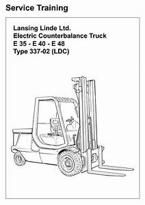 Linde Electric Forklift Truck Type 337