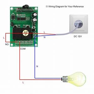 Smart Home 433mhz Rf Dc 12v 2ch Learning Code Wireless