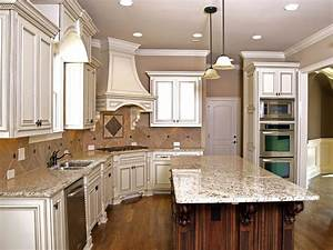 kitchens with dark cabinets and light island round stone With kitchen colors with white cabinets with black white canvas wall art