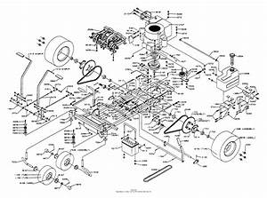 Dixon Ztr 361  1991  Parts Diagram For Chassis Assembly
