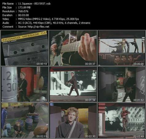 Squeeze also appears in this compilation. Squeeze Videos. Download Squeeze Music Video 853-5937