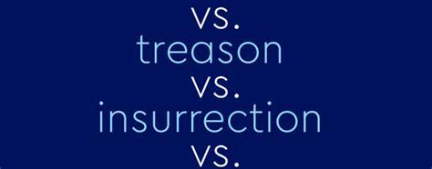 "Laying Down The Law On ""Sedition"" vs ""Treason"" vs"