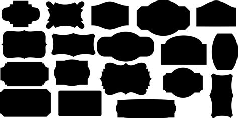 The basic shapes may be stroked, filled and used as clip paths. 14 Label Vector Silhouettes Images - Beach Silhouette ...