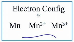 Electron Configuration For Mn  Mn2   Mn3    And Mn4