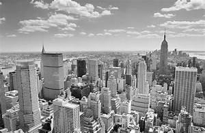Black and White New York Panorama Mural